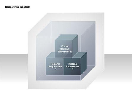 Transparent Building Block Diagrams, Slide 11, 00283, Matrix Charts — PoweredTemplate.com