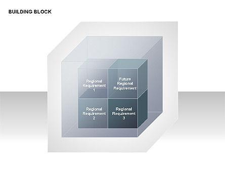 Transparent Building Block Diagrams, Slide 12, 00283, Matrix Charts — PoweredTemplate.com