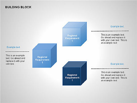 Transparent Building Block Diagrams, Slide 5, 00283, Matrix Charts — PoweredTemplate.com