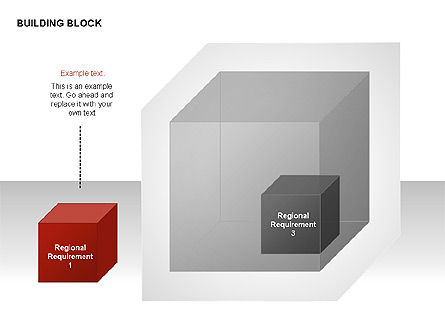 Transparent Building Block Diagrams, Slide 6, 00283, Matrix Charts — PoweredTemplate.com