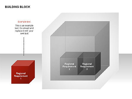 Transparent Building Block Diagrams, Slide 7, 00283, Matrix Charts — PoweredTemplate.com