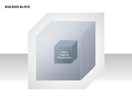 Transparent Building Block Diagrams, Slide 9, 00283, Matrix Charts — PoweredTemplate.com