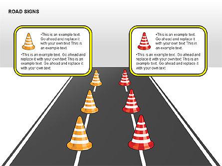 Road Signs Diagrams, Slide 11, 00284, Shapes — PoweredTemplate.com