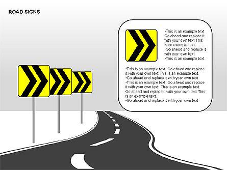 Road Signs Diagrams, Slide 12, 00284, Shapes — PoweredTemplate.com