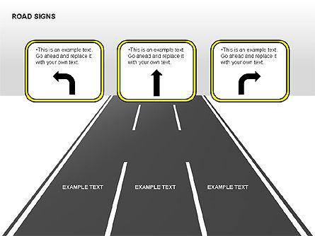 Road Signs Diagrams, Slide 13, 00284, Shapes — PoweredTemplate.com