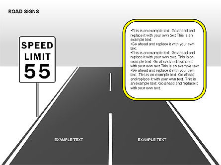 Road Signs Diagrams, Slide 14, 00284, Shapes — PoweredTemplate.com