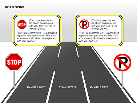 Road Signs Diagrams, Slide 15, 00284, Shapes — PoweredTemplate.com