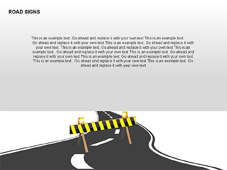 Road Signs Diagrams, Slide 2, 00284, Shapes — PoweredTemplate.com