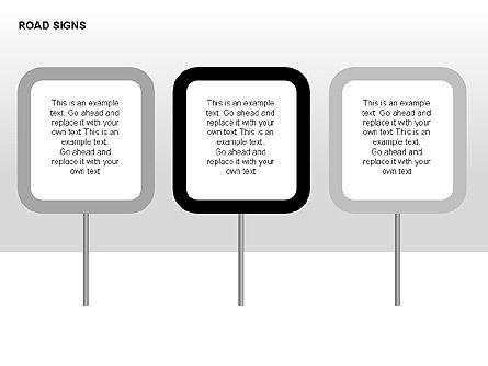 Road Signs Diagrams, Slide 3, 00284, Shapes — PoweredTemplate.com
