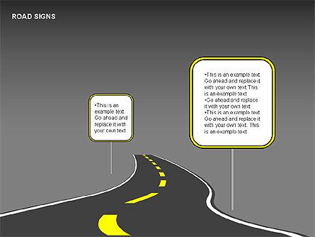 Road Signs Diagrams, Slide 4, 00284, Shapes — PoweredTemplate.com