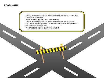 Road Signs Diagrams, Slide 6, 00284, Shapes — PoweredTemplate.com