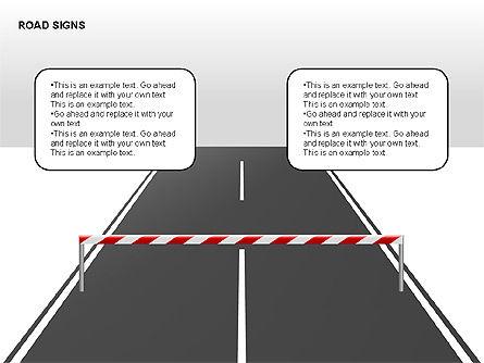 Road Signs Diagrams, Slide 7, 00284, Shapes — PoweredTemplate.com
