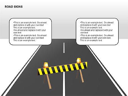 Road Signs Diagrams, Slide 8, 00284, Shapes — PoweredTemplate.com