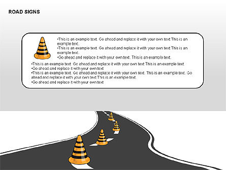 Road Signs Diagrams, Slide 9, 00284, Shapes — PoweredTemplate.com
