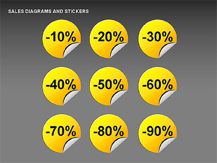 Sales Stickers and Diagrams, Slide 2, 00287, Shapes — PoweredTemplate.com