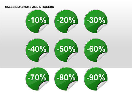 Sales Stickers and Diagrams, Slide 3, 00287, Shapes — PoweredTemplate.com