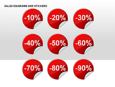 Sales Stickers and Diagrams, Slide 4, 00287, Shapes — PoweredTemplate.com