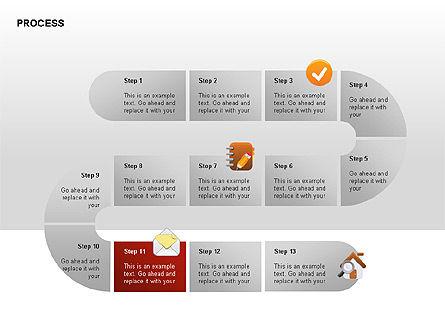 Process Diagrams, Slide 11, 00288, Process Diagrams — PoweredTemplate.com