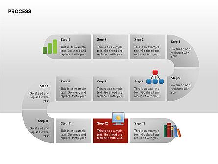 Process Diagrams, Slide 12, 00288, Process Diagrams — PoweredTemplate.com