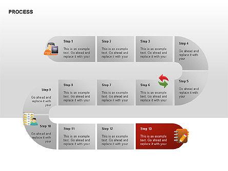 Process Diagrams, Slide 13, 00288, Process Diagrams — PoweredTemplate.com