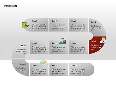 Process Diagrams, Slide 6, 00288, Process Diagrams — PoweredTemplate.com