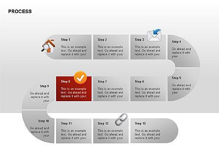 Process Diagrams, Slide 8, 00288, Process Diagrams — PoweredTemplate.com