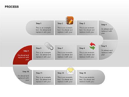Process Diagrams, Slide 9, 00288, Process Diagrams — PoweredTemplate.com