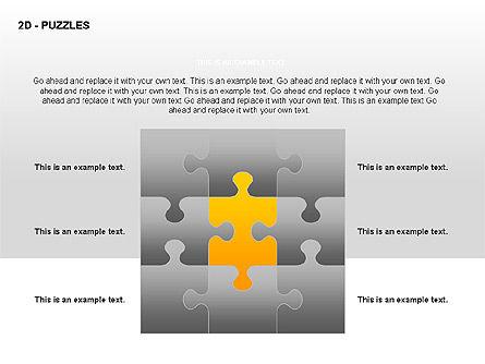 Puzzles Diagrams, Slide 10, 00289, Puzzle Diagrams — PoweredTemplate.com