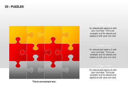 Puzzles Diagrams, Slide 11, 00289, Puzzle Diagrams — PoweredTemplate.com
