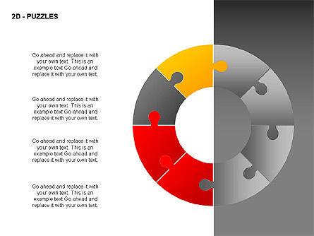 Puzzles Diagrams, Slide 12, 00289, Puzzle Diagrams — PoweredTemplate.com