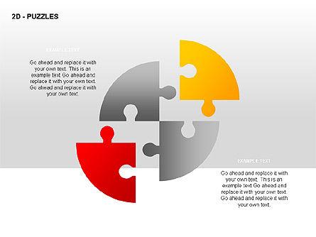 Puzzles Diagrams, Slide 2, 00289, Puzzle Diagrams — PoweredTemplate.com