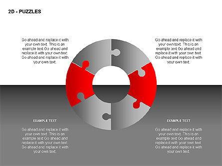 Puzzles Diagrams, Slide 3, 00289, Puzzle Diagrams — PoweredTemplate.com