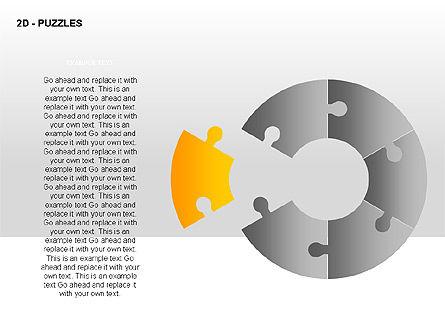Puzzles Diagrams, Slide 4, 00289, Puzzle Diagrams — PoweredTemplate.com