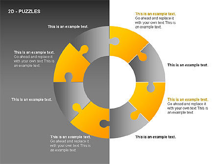Puzzles Diagrams, Slide 7, 00289, Puzzle Diagrams — PoweredTemplate.com