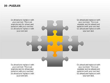 Puzzles Diagrams, Slide 9, 00289, Puzzle Diagrams — PoweredTemplate.com