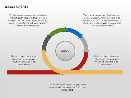 Circle Process Charts Collection, Slide 10, 00291, Shapes — PoweredTemplate.com