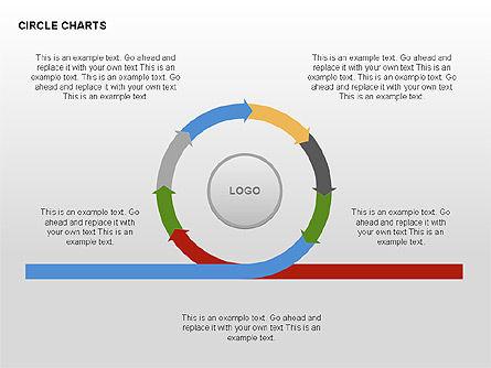 Circle Process Charts Collection, Slide 11, 00291, Shapes — PoweredTemplate.com