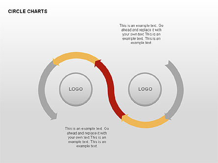 Circle Process Charts Collection, Slide 13, 00291, Shapes — PoweredTemplate.com
