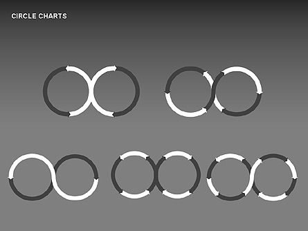 Circle Process Charts Collection, Slide 6, 00291, Shapes — PoweredTemplate.com