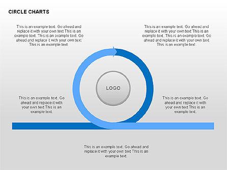 Circle Process Charts Collection, Slide 7, 00291, Shapes — PoweredTemplate.com