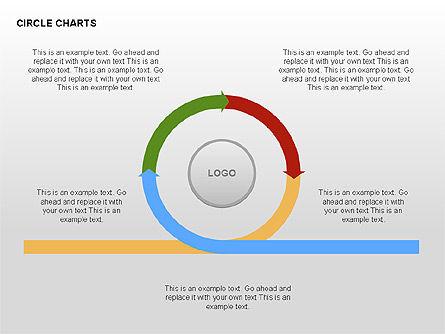 Circle Process Charts Collection, Slide 8, 00291, Shapes — PoweredTemplate.com