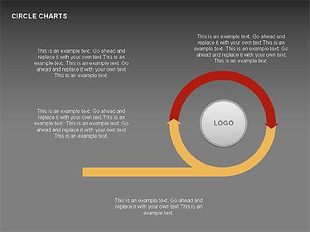 Circle Process Charts Collection, Slide 9, 00291, Shapes — PoweredTemplate.com