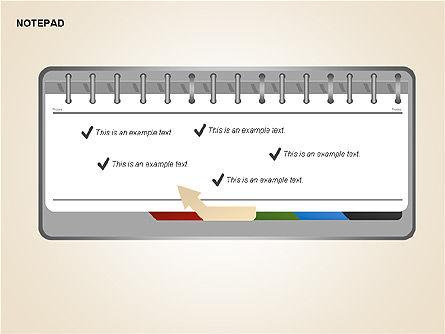 Diary Shapes and Diagrams, Slide 10, 00292, Timelines & Calendars — PoweredTemplate.com