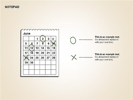 Diary Shapes and Diagrams, Slide 11, 00292, Timelines & Calendars — PoweredTemplate.com