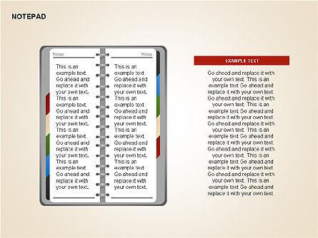 Diary Shapes and Diagrams, Slide 13, 00292, Timelines & Calendars — PoweredTemplate.com