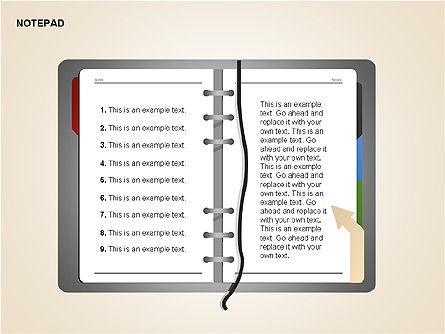 Diary Shapes and Diagrams, Slide 5, 00292, Timelines & Calendars — PoweredTemplate.com