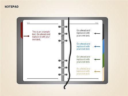 Diary Shapes and Diagrams, Slide 6, 00292, Timelines & Calendars — PoweredTemplate.com