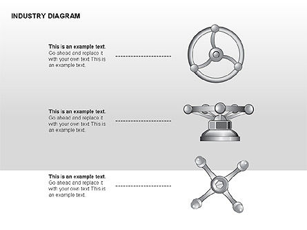 Industry Diagram, Slide 14, 00294, Stage Diagrams — PoweredTemplate.com