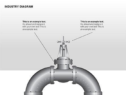 Industry Diagram, Slide 5, 00294, Stage Diagrams — PoweredTemplate.com