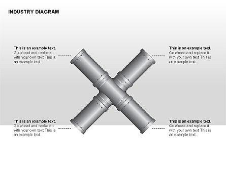 Industry Diagram, Slide 6, 00294, Stage Diagrams — PoweredTemplate.com